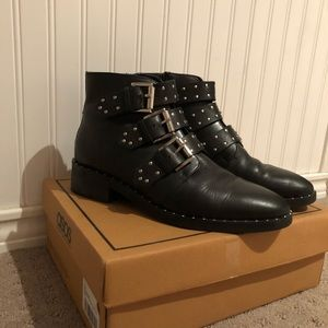 a09a15d2071 ASOS ASHER leather studded ankle boots